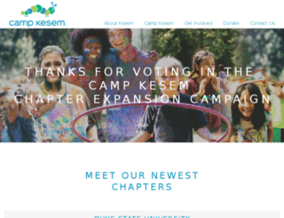 vote.campkesem.org screenshot