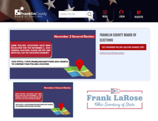 vote.franklincountyohio.gov screenshot