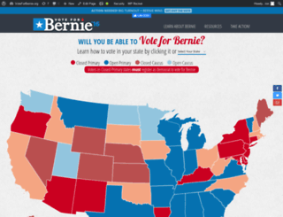 voteforbernie.org screenshot