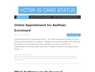 votercardstatus.in screenshot