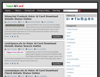 voteridcarddownload.in screenshot