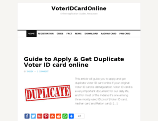 voteridcardonline.com screenshot