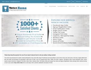 voteszone.com screenshot