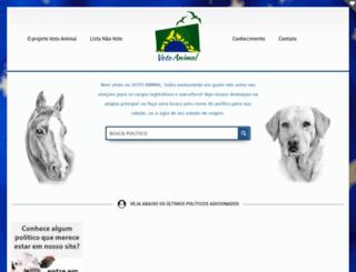 votoanimal.com.br screenshot