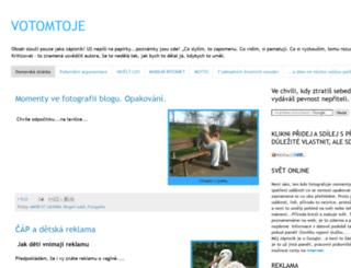 votomtoje.blogspot.cz screenshot
