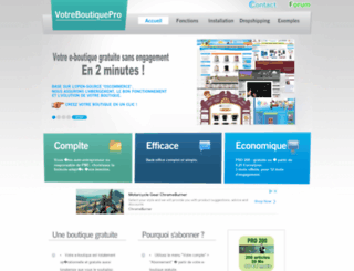 votreboutiquepro.com screenshot