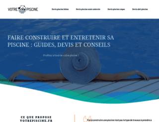 votrepiscine.fr screenshot