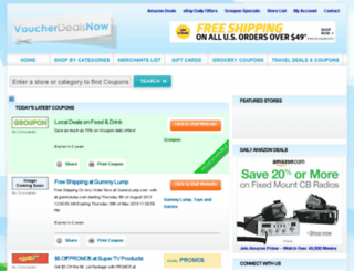 voucherdealsnow.com screenshot