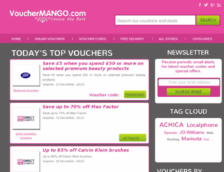 vouchermango.co.uk screenshot