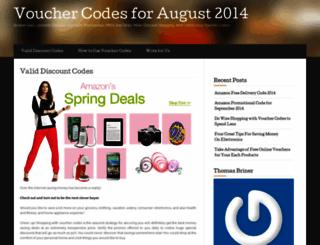 voucherscodes.wordpress.com screenshot