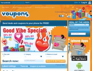 voupons.com.au screenshot