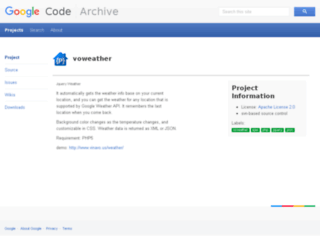 voweather.googlecode.com screenshot