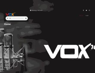 voxfm.com screenshot