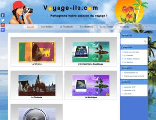 voyage-ile.com screenshot