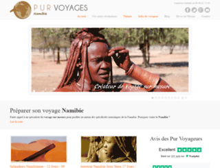voyage-namibie.net screenshot