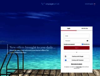 voyage-prive.co.uk screenshot