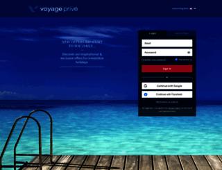 voyageprive.com screenshot