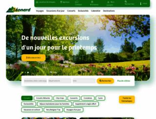 voyages-leonard.com screenshot