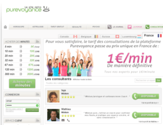 voyants.purevoyance.com screenshot