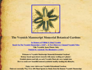 voynichgardens.com screenshot