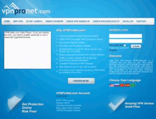 vpnpronet.com screenshot