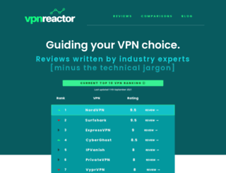 vpnreactor.com screenshot