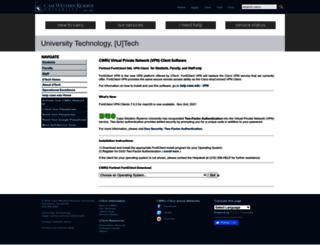 vpnsetup.case.edu screenshot