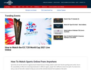 vpnsports.com screenshot