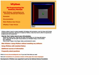 vpython.org screenshot
