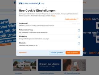 vr-banknordeifel.de screenshot