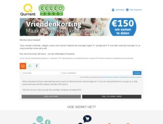 vriendenkorting.qurrent.nl screenshot