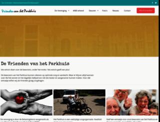 vriendenvanhetparkhuis.nl screenshot