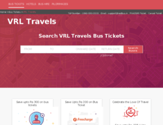 vrl-travels.redbus.in screenshot