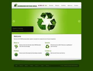 vrm-recycling.be screenshot