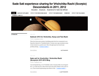 vrushcika-sadesati.com screenshot