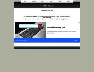 vsimcard.com screenshot
