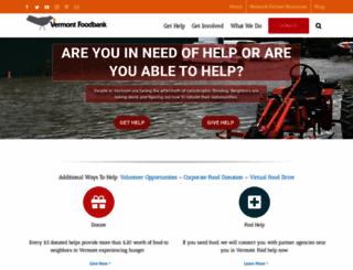 vtfoodbank.org screenshot