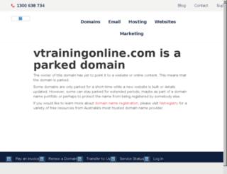 vtrainingonline.com screenshot