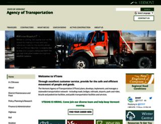 vtrans.vermont.gov screenshot