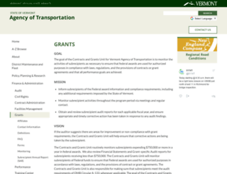 vtransgrants.vermont.gov screenshot