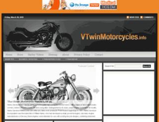 vtwinmotorcycles.info screenshot