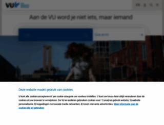 vu.nl screenshot