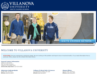 vuauth.villanova.edu screenshot