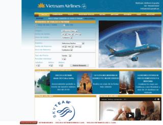 vuelosavietnam.es screenshot