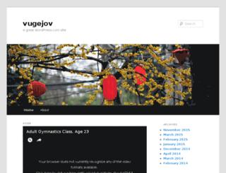 vugejov.wordpress.com screenshot