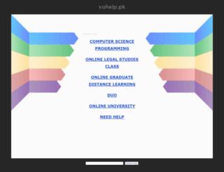 vuhelp.pk screenshot
