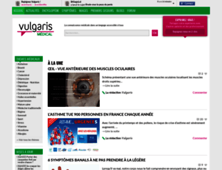 vulgaris-medical.com screenshot
