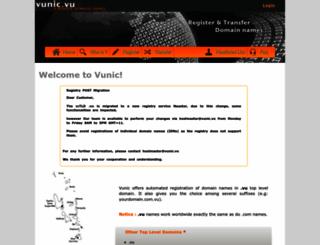vunic.vu screenshot