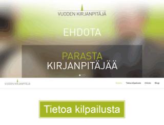 vuodenkirjanpitaja.fi screenshot