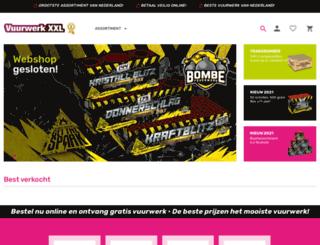 vuurwerkxxl.nl screenshot